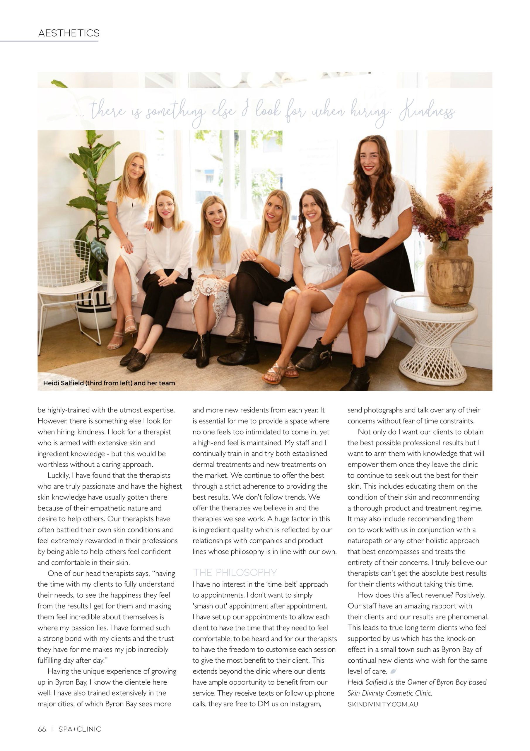 Article on Skin Divinity Cosmetic Clinic Spa+Clinic 2 - QLD, NSW